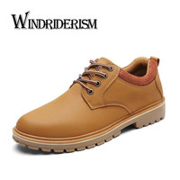 WINDRIDERISM Men Boots Flat Heels Autumn Winter Shoes Lace Up Casual Shoes Botas De Hombre New
