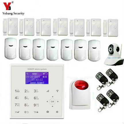 YobangSecurity WIFI Burglar Alarm Video IP camera Wireless GSM House Security Safety System Wifi IP Camera