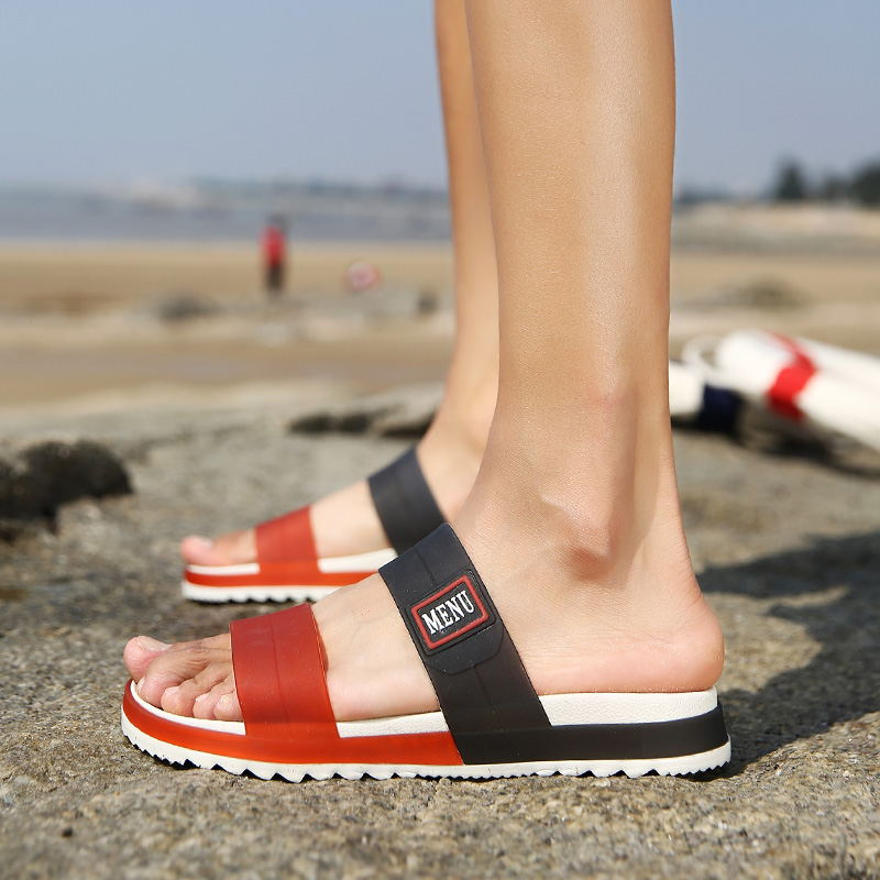 LAISUMK Summer Beach Men Slippers Casual Shoes Double Buckle Man Slip on Flip Flops Flats Camouflage Flip Flop Indoor & Outdoor 107