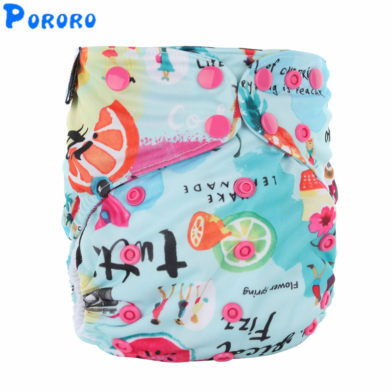 Washable AIO Pockets Cloth Diapers Nappy Cover  Double Gussets Aio Reusable Baby Girls Boys Cloth Diapers