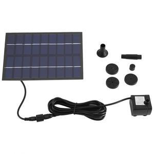 Image 2 - Pompe à eau, 200l/h, avec panneau solaire, pompe à eau, étang, jardin, maison, pompe à panneau solaire noire