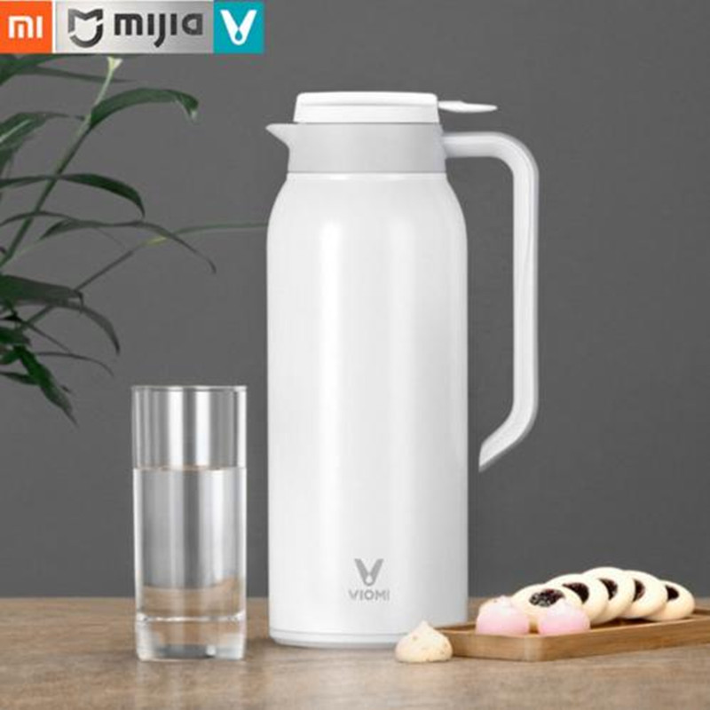 Original Xiaomi Mi Mijia VIOMI 1.5 L Kettle Thermos Cups Stainless Steel Vacuum 24 Hours Flask Water Smart Bottle Thermos Single 1 5l big capacity xiaomi viomi stainless steel bottle thermos water vacuum bottle cup flask pot 24h keep warm for home office