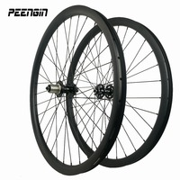 carbon wheels 29er asymmetric MTB bike wheelset clincher tubeless compatible mountain bicycle offset rims UD 3K weave available