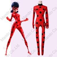 Kids Miraculous Ladybug Cosplay Costume Ladybug Jumpsuit Lycra Zentai Halloween