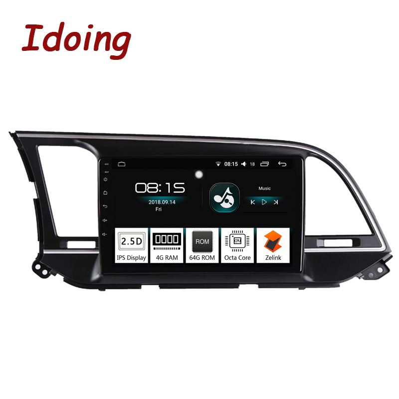 Idoing 9 Car Android 8 1 Radio Multimedia Player For Hyundai Elantra 6 2015 2018 GPS