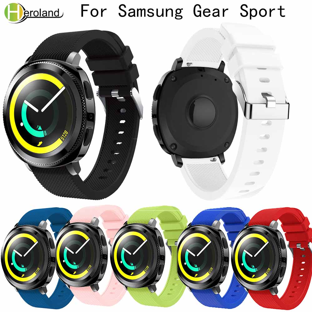 Sport Silicone Watch Band For Samsung Gear Sport 20mm Wristband Straps Replacement Wrist Strap Fashion Lightweight Watchband New
