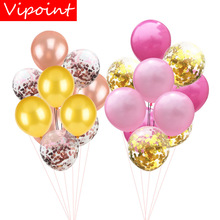 VIPOINT PARTY 10pcs 12inch black pink blue green latex balloons wedding event christmas halloween festival birthday party PD-137