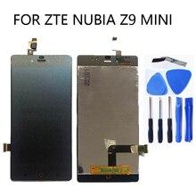 """5.0 """"schermo LCD per ZTE Nubia Z9 Mini z9mini nx511j schermo LCD originale + touch screen digitizer kit di ricambio + strumenti"""