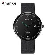 Mens Watches Top Brand Luxury Slim Quartz Watch Genuine Leather Strap Watches Men Relogio Masculino