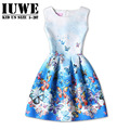 Girls Dresss Summer 2017 Kids Dresses for Girls of 15 Years Sleeveless Printed Teenagers Girl  Dress  Princesa Disfraces Ninas16