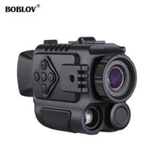 BOBLOV P4 Digital IR Night Vision Scope Monocular 200m Range Video DVR Imagers for Hunting Camera Device