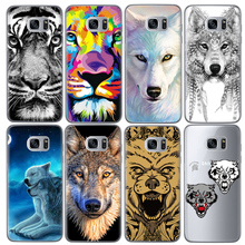 Animal Wolf  Phone Cases  Samsung Galaxy J5 J3 A5 2016 Grand Prime G530 S5 S6 S7 Edge Note 3 4 5