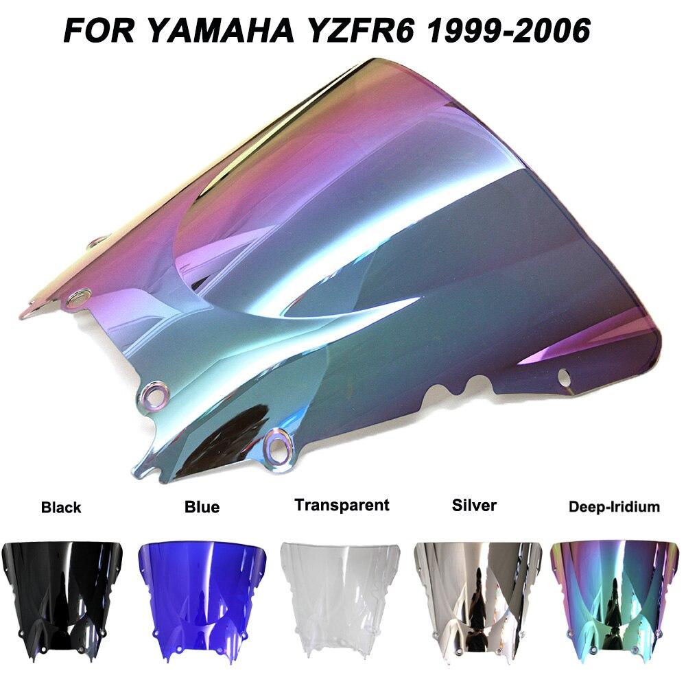 For 99 02 Yamaha YZF R6 YZFR6 Motorcycle Windscreen Windshield Wind Deflectors Accessories 1999 2000 2001 2002|Windscreens & Wind Deflectors| |  -