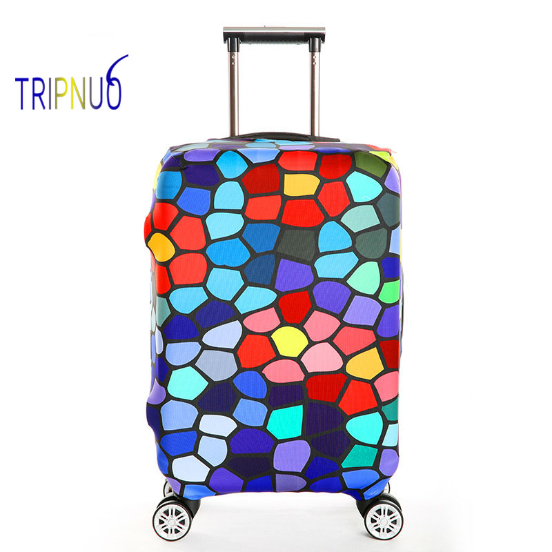 TRIPNUO Thickest Elastic Suitcase Cover Colorful Dots Luggage Protective Cover For 18