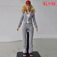 1/6 Scale Action figure Fashion sportswear set KUMIK outfit-6 Womens Sportswear with body and shoes for girl head