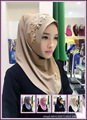 Muslim head scarf Malaysian crystal head sets of Hui Hui convenient hijab color