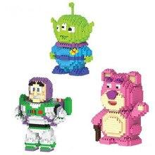 New Toy 4 Buzz Lightyear Alien Bear Small Particles Figures Building Block Bricks Kids Toys B545