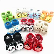 Новинка; носки для малышей; Нескользящие Детские носки с резиновой подошвой; забавные носки для девочек; носки для новорожденных 0-6-18 месяцев