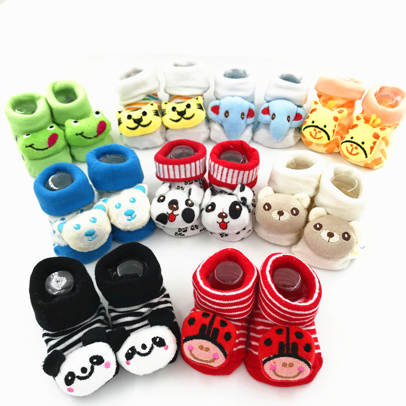 New Baby Socks Rubber Anti Slip Kids Foot Socks Funny Happy Girl  Socks Newborn 0-6-18 Month