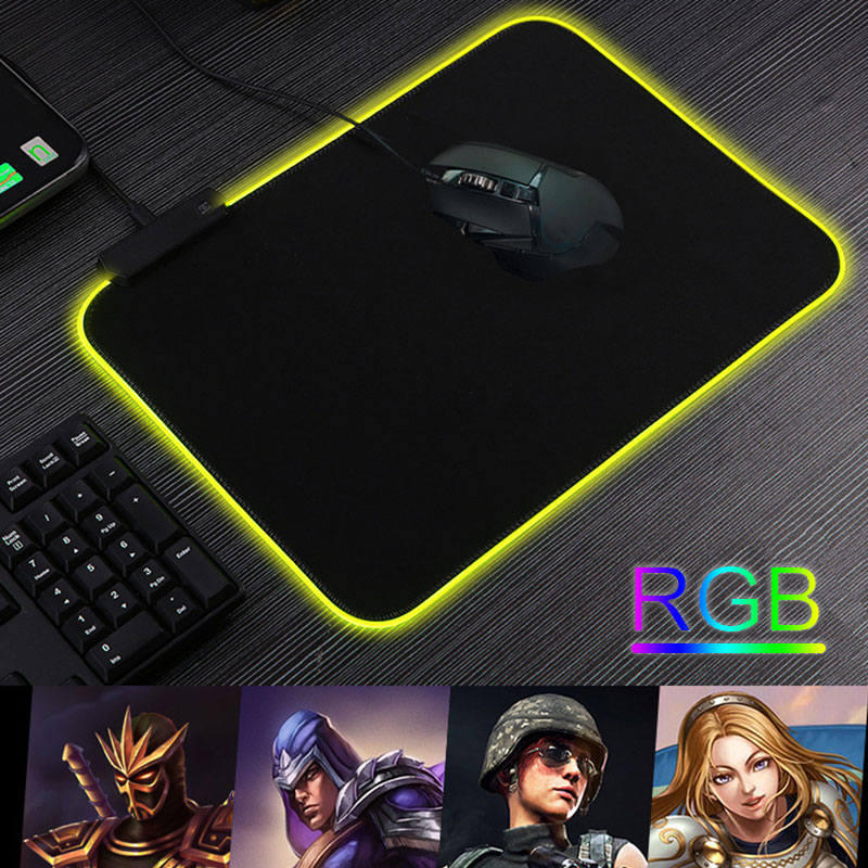 Резиновый протектор коврик Мышь коврик RGB Мышь игровой коврик прочный дом