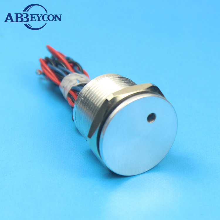 Abbeycon RG Red Yellow Illuminated light Dot LED 22mm Flat Latching 12V/24V electrical Aluminium Alloy Touch piezo switch