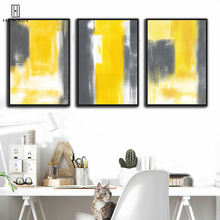 Abstract HD Wall Paintings Yellow White Colors Mixed Decorative Canvas Posters Unframed Wall Art Prints For Home Room Decor