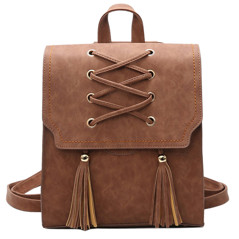 Tassel Womens Backpacks Lady Bag Female Backpack Travel Bag Women Designer Vintage Back Pack Child School