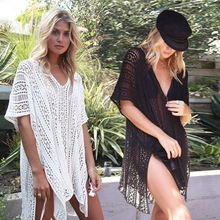 2019 Beach Cover Up Bikini Crochet Knitted Tassel Tie Beachwear Summer Swimsuit bathing suit cover ups Sexy pareo Beach Dress sexy cotton bathing suit cover ups summer beach dress tassel trim bikini swimsuit cover up beach wear pareo sarong