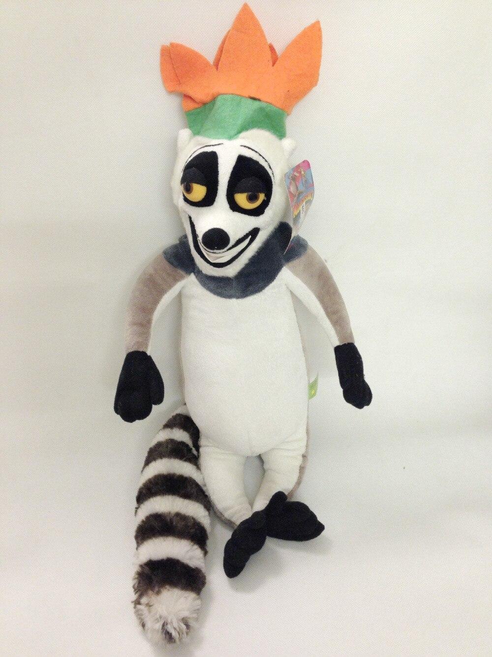 Madagascar King Julien XIII Plush Toy, Lemur Baby Gift, Kids Doll ...