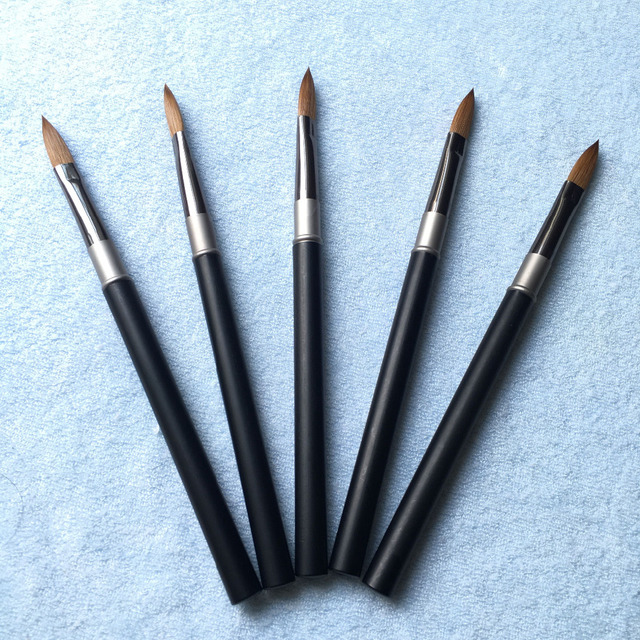 Free Shipping Professional Nail Tool 8# 10pcs/lot Light Matt Black ...