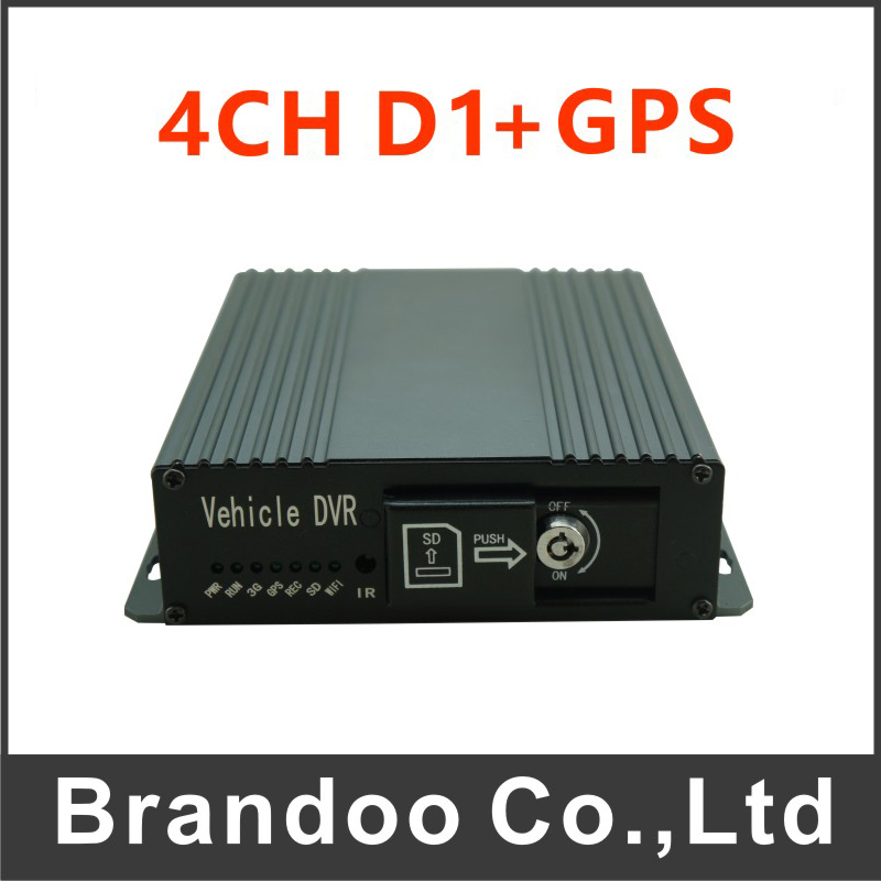 4CH D1 DVR,12-24V power available, suit for taxi, bus, van, trucks.