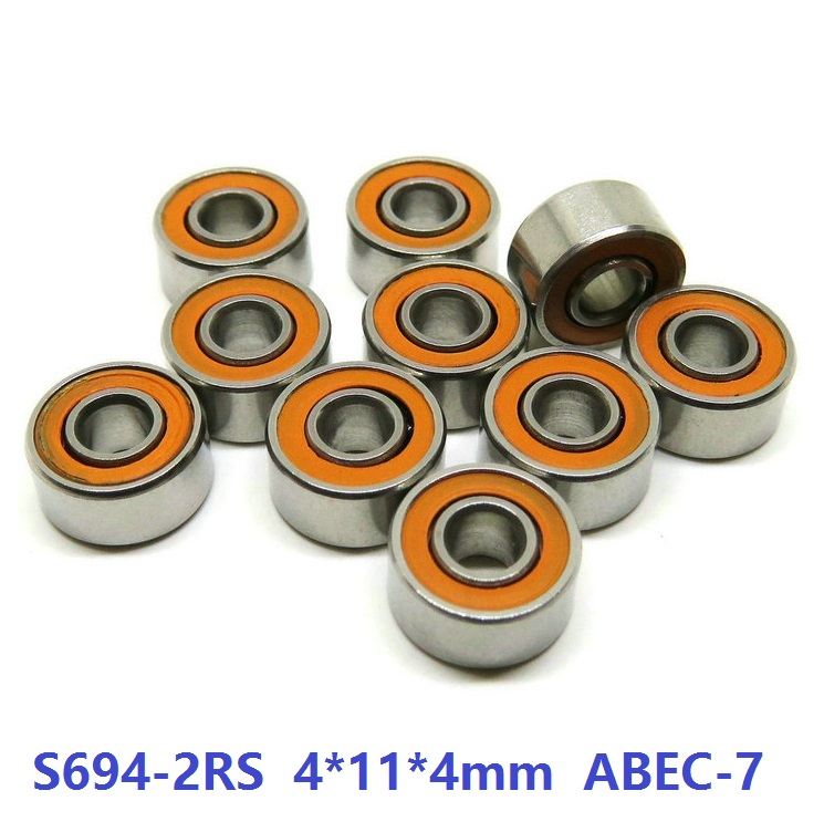 6pcs or 10pcs S694-2RS 4x11x4 mm ABEC-7 Stainless Steel hybrid Si3n4 ceramic bearing 694RS 694 2RS for fishing reel bearing 6pcs or 10pcs s695 2rs 5x13x4 mm abec 7 stainless steel hybrid si3n4 ceramic bearing 695rs 695 2rs cb ld fishing reel 5 13 4