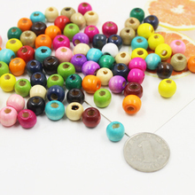 100pcs/kit Wooden Beads Mixed color Necklace DIY Crafts Dream Catcher Jewelry Painted Handmade Bracelet Beaded Accessories