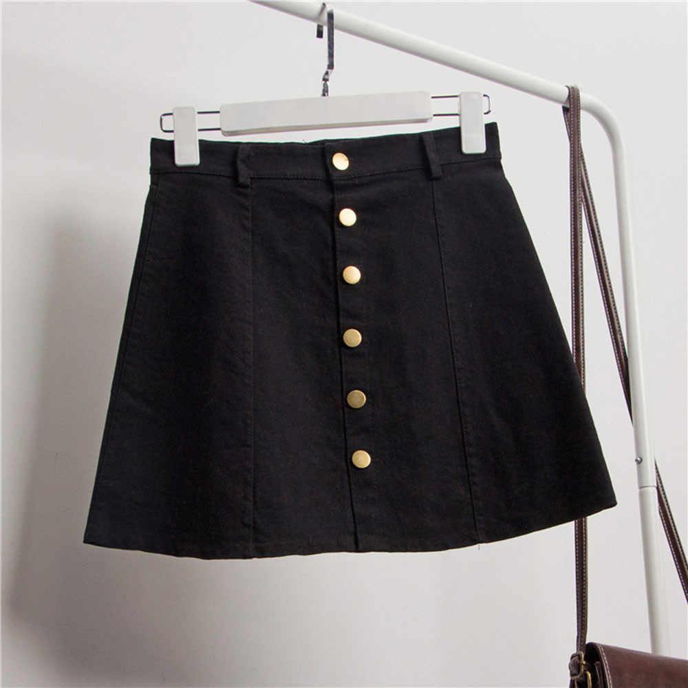 875efcbcf66 ... 2018 Beautiful Women's Fashion Waist Skirt Korean Style Denim Skirt  Polyester Spring Summer A-Line ...