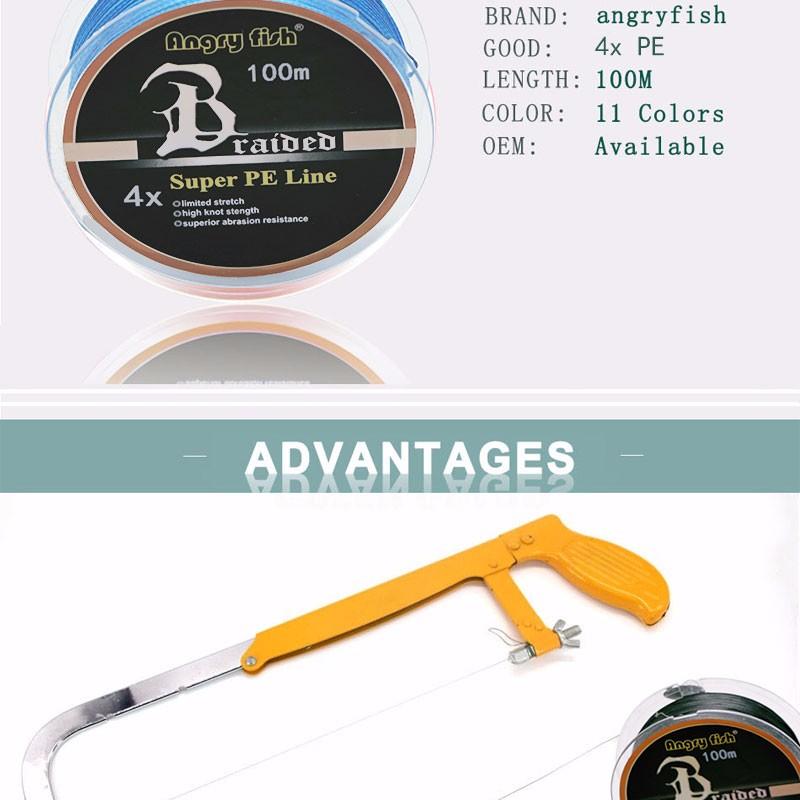 Angryfish High Quality Braided Fishing Line 10