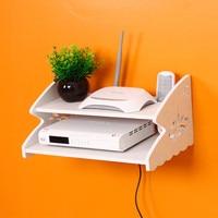 TV Set Top Routers Wooden Shelf Diy Carved HDF STB Remote Control Holder Storage Box Holder