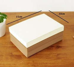 50 100 Sheets Plain Kraft Cardstock 300gsm Thick Paper Blank Off White Black Cardboard Craft Papers 100*150mm