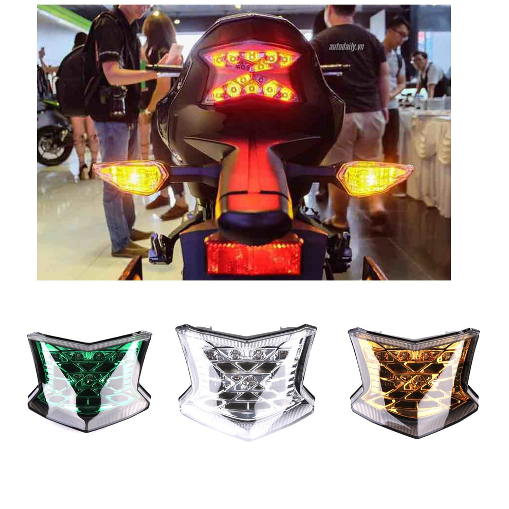 For Kawasaki Z900 Z650 2017-2018 Motorcycle Tail Light Motorbike Brake Light Rear Lamp Integrated Motors Turn Signal Light possbay motorcycle led flashing rear tail brake stop light lamp for kawasaki z1000 2014 2015 2016 motor turn signal integrated