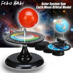 Sistema solar globo terra sol lua planetário orbital modelo educacional para crianças brinquedo astronomia ciência kit ferramenta de ensino