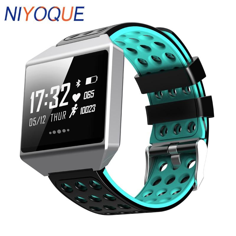 цена NIYOQUE Smart Bracelet CK12 Touch Screen Smart Band ECG Heart Rate Blood Pressure Sport Pedometer Call Reminder Smart Watch
