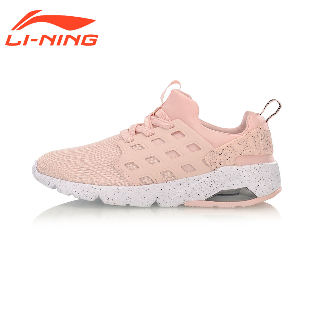 Li-Ning Women's Walking Shoes Bubble Ace Streetwear Mono Yarn Cushion Breathable LiNing Sneakers Sports AGLM022 original li ning men professional basketball shoes