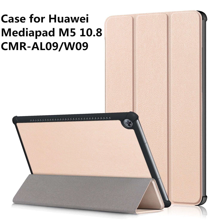 Slim Cover for Huawei Mediapad M5 10.8 PU Leather Case Huawei Mediapad M5 10(PRO) CMR-AL09/CMR-W09+ Gift silicone with bracket flat case for huawei mediapad m5 8 4 inch