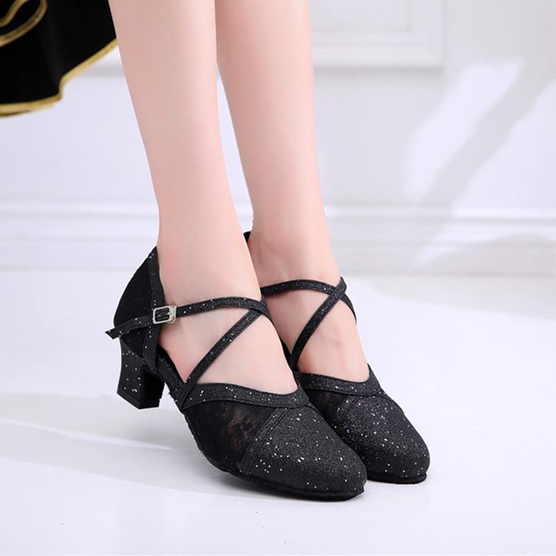 Coupon Woman Ballroom Dancing Shoes Black Lt Gold Shiny Dance ShoesCoupon Woman Ballroom Dancing Shoes Black Lt Gold Shiny Dance Shoes