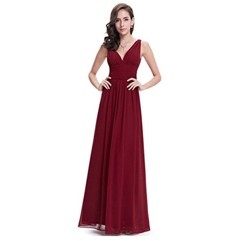 Solid Elegant Women Vintage Summer Dress V Neck Sleeveless High Waist Fit and Flare Floo ...
