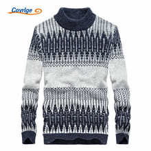 Covrlge 2017 Men's Sweaters Winter High Quality Turtleneck Pullover Christmas Sweater Free Shipping Men Clothing M-3XL MZM009