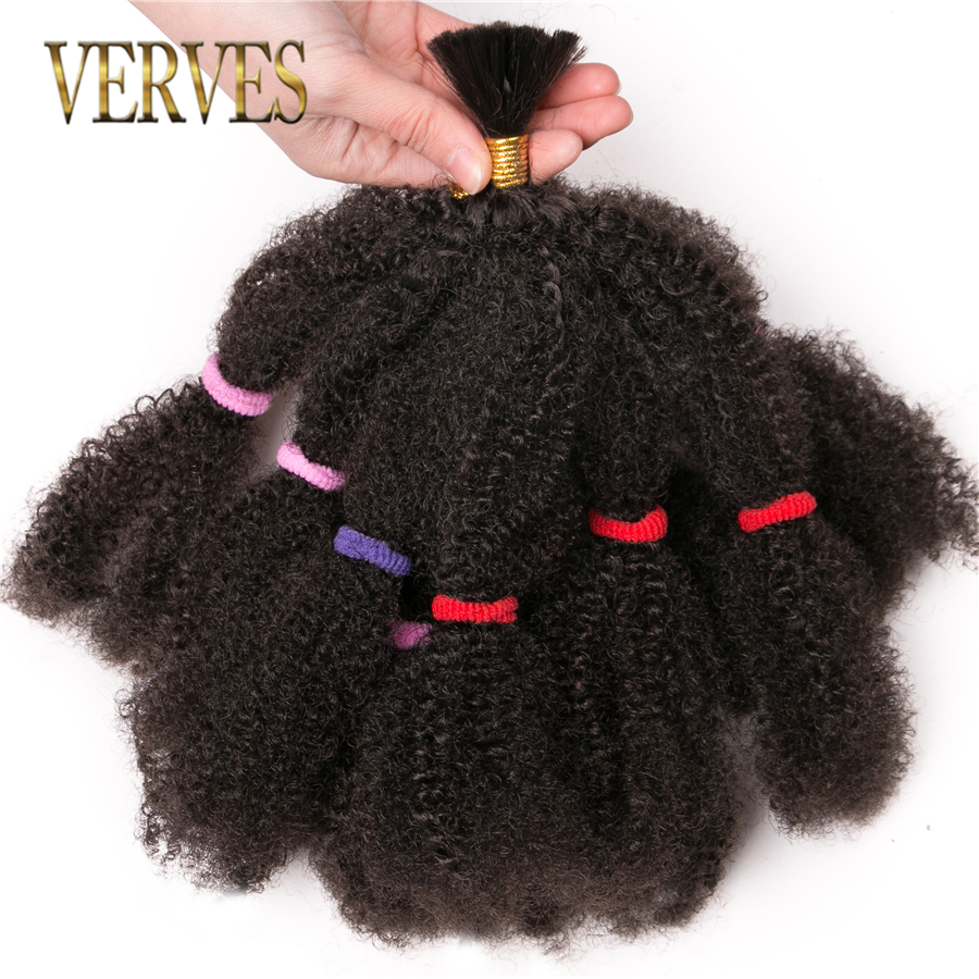 VERVES Culry Crochet Braids Hair Extensions 12 Inch,Natural Black Synthetic Ombre Braiding Hair Afro Kinky Bulk Braids Bundle