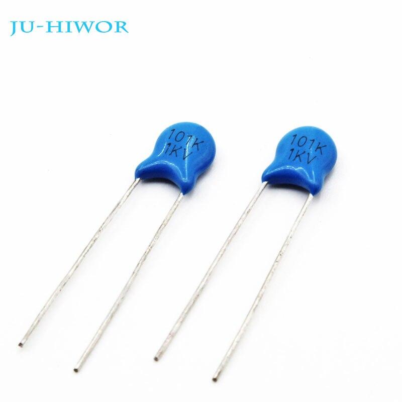 100PCS//LOT 1KV 101 100PF Haute Tension conDensateurs en c/éramique Dip capacit/é 1000V 100pF