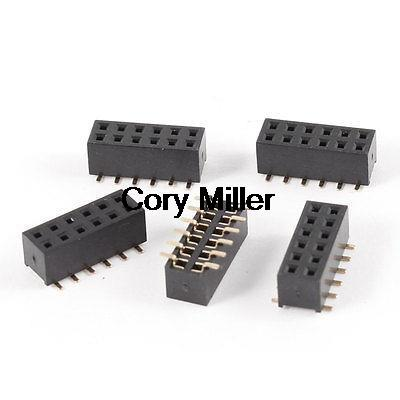 2mm Pitch Dual Row 12Pins PCB Mounting SMT Female Header Connector