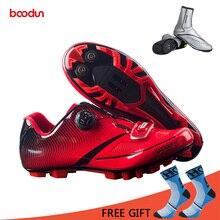 BOODUN, дышащий материал, профессиональная самоблокирующаяся велосипедная обувь, MTB велосипедная обувь, нескользящая гоночная обувь для велосипеда, Sapatos de ciclismo