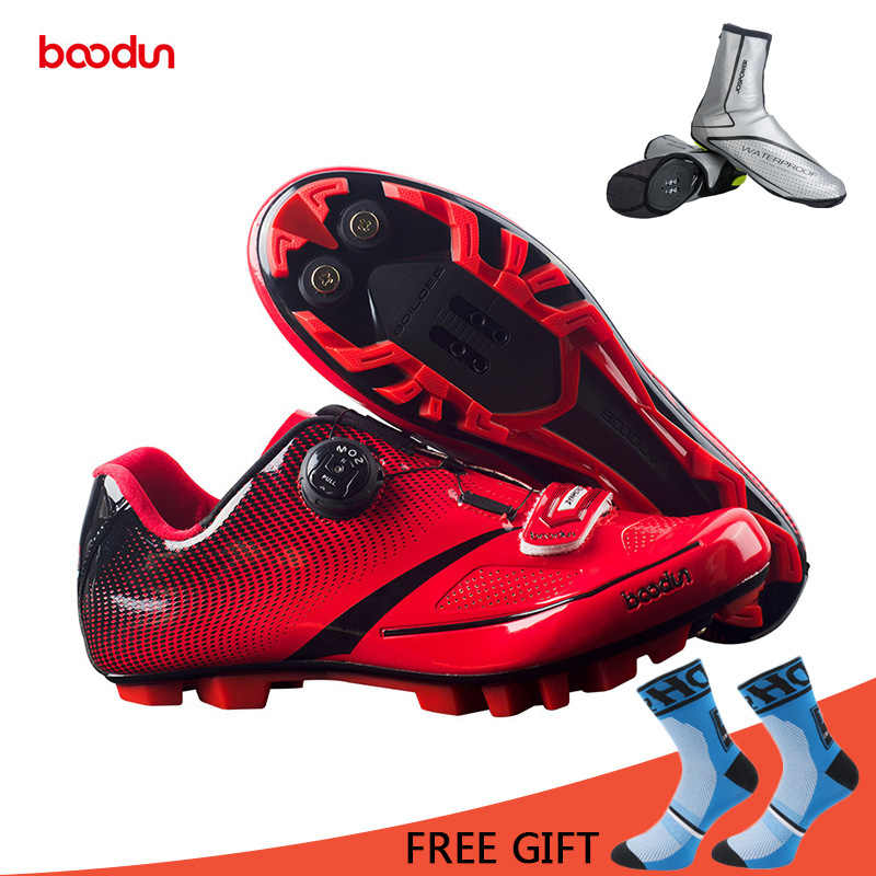 Boodun Breathable Professional Self-Locking Cycling Shoes MTB Bicycle Shoes Non-Slip Bike Racing Shoes Sapatos de ciclismo